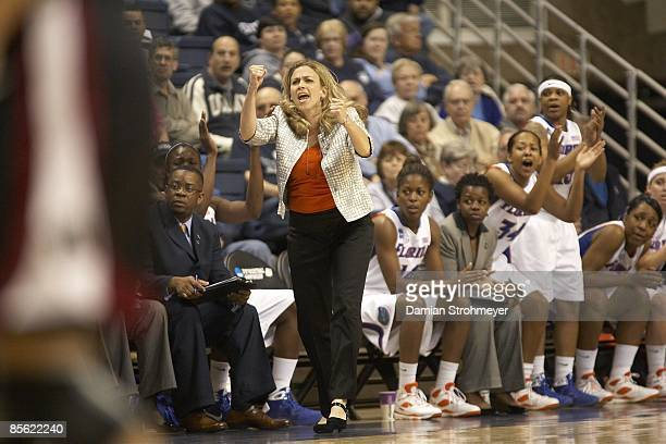 NCAA Playoffs Florida head coach Amanda Butler during game vs Temple Storrs CT 3/22/2009 CREDIT Damian Strohmeyer