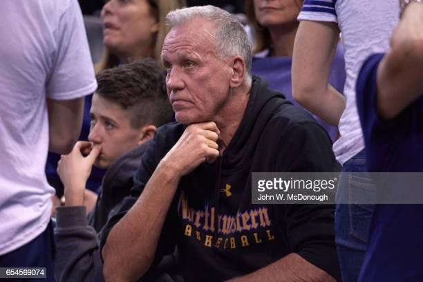 NCAA Playoffs Former NBA head coach Doug Collins father of Northwestern coach Chris Collins in stands during game vs Vanderbilt at Vivint Smart Home...