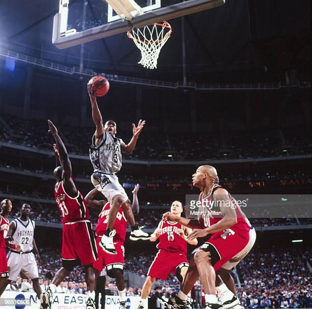 NCAA Playoffs Georgetown Allen Iverson in action shot vs Texas Tech Atlanta GA 3/21/1996 CREDIT Manny Millan