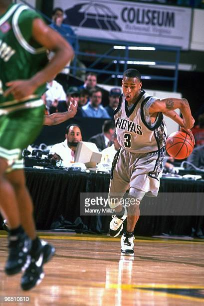 NCAA Playoffs Georgetown Allen Iverson in action vs Mississippi Valley Richmond VA 3/15/1996 CREDIT Manny Millan
