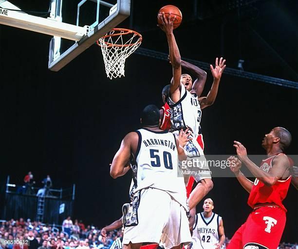NCAA Playoffs Georgetown Allen Iverson in action shot vs Texas Tech Atlanta GA 3/21/1996 CREDIT Manny Millan