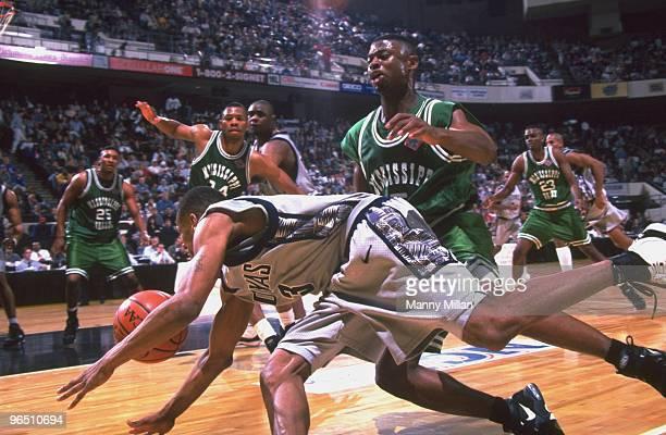 NCAA Playoffs Georgetown Allen Iverson in action vs Mississippi Valley Richmond VA 3/15/1996 CREDIT Manny Millan