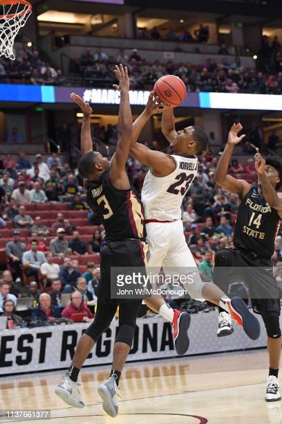 NCAA Playoffs Gonzaga Zach Norvell Jr in action vs Florida State at Honda Center Anaheim CA CREDIT John W McDonough