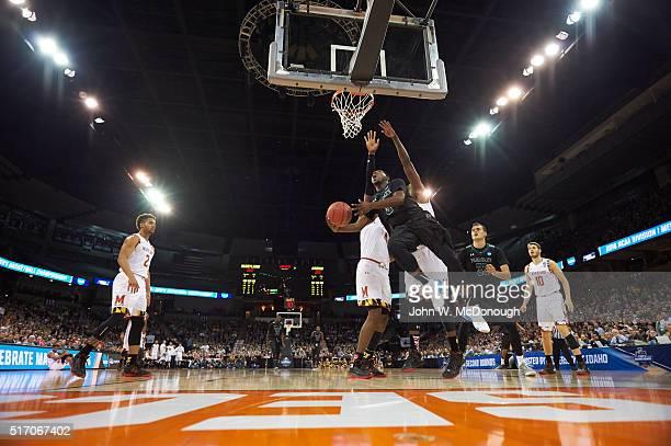 NCAA Playoffs Hawaii Roderick Bobbitt in action vs Maryland at Spokane Veterans Memorial Arena Spokane WA CREDIT John W McDonough