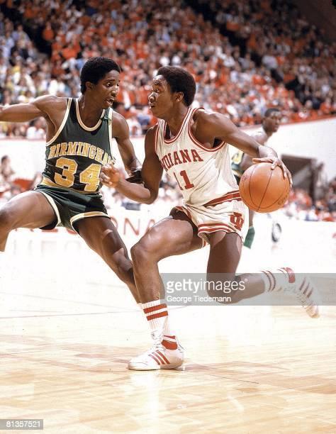 College Basketball NCAA playoffs Indiana Isiah Thomas in action vs Alabama Birmingham Bloomington IN 3/20/1981