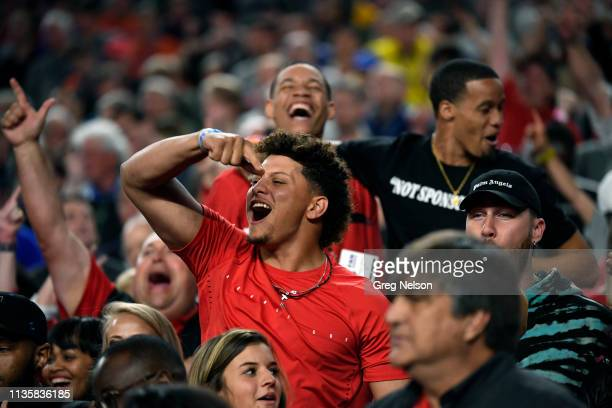 Playoffs: Kansas City Chiefs QB and Texas Tech fan Patrick Mahomes in stands during game vs Michigan State at U.S. Bank Stadium. Minneapolis, MN...