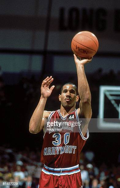 College Basketball NCAA Playoffs Loyola Marymount Bo Kimble in action taking foul shot vs Michigan Left handed free throw in honor of deceased LMU...