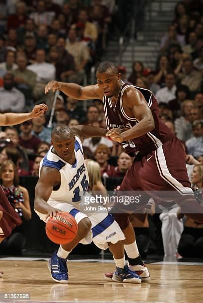 College Basketball NCAA Playoffs Memphis Andre Allen in action vs Texas AM Joseph Jones San Antonio TX 3/22/2007