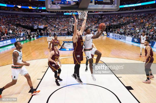 NCAA Playoffs Miami Anthony Lawrence II in action vs Loyola Chicago at American Airlines Center Dallas TX CREDIT Greg Nelson