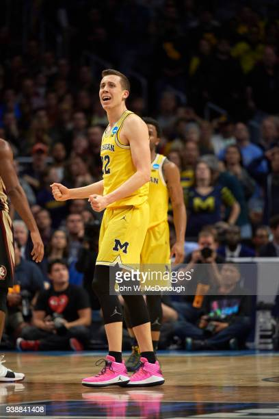 NCAA Playoffs Michigan Duncan Robinson during game vs Florida State at Staples Center Los Angeles CA CREDIT John W McDonough