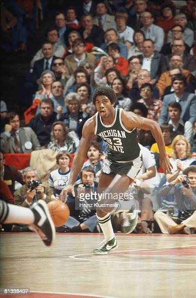 College Basketball NCAA Playoffs Michigan State Magic Johnson in action vs Kentucky Dayton OH 3/18/1978