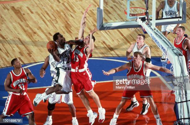 Playoffs: Michigan State Mateen Cleaves in action vs Wisconsin at RCA Dome Indianapolis, IN 4/1/2000 CREDIT: Manny Millan
