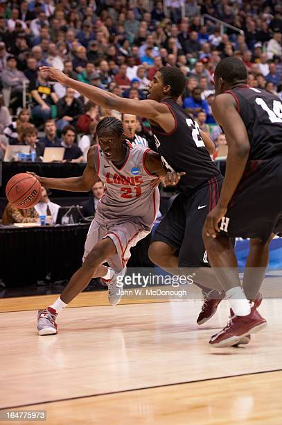 NCAA Playoffs New Mexico Tony Snell in action vs Harvard at Energy Solutions Arena Salt Lake City UT CREDIT John W McDonough