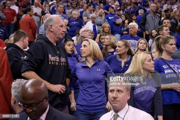 NCAA Playoffs Northwestern coach Chris Collins father Doug in stands during game vs Gonzaga at Vivint Smart Home Arena Salt Lake City UT CREDIT John...