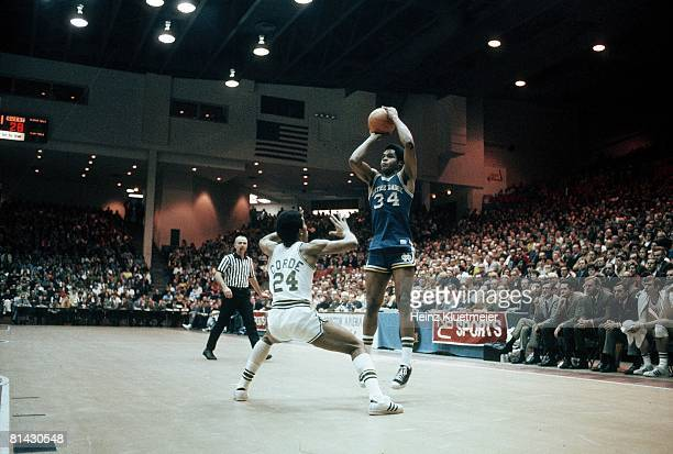 College Basketball NCAA Playoffs Notre Dame Austin Carr in action taking shot vs Ohio University Dayton OH 3/7/1970