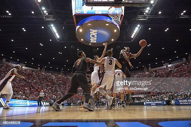 NCAA Playoffs Oklahoma State Marcus Smart in action vs Gonzaga Kyle Dranginis at Viejas Arena San Diego CA CREDIT John W McDonough