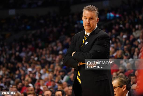 Purdue coach Matt Painter during game vs Yexas Tech at TD Garden Boston MA CREDIT Erick W Rasco