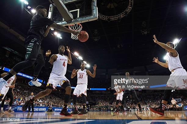NCAA Playoffs Rear view of Hawaii Roderick Bobbitt in action passing vs Maryland at Spokane Veterans Memorial Arena Spokane WA CREDIT John W McDonough