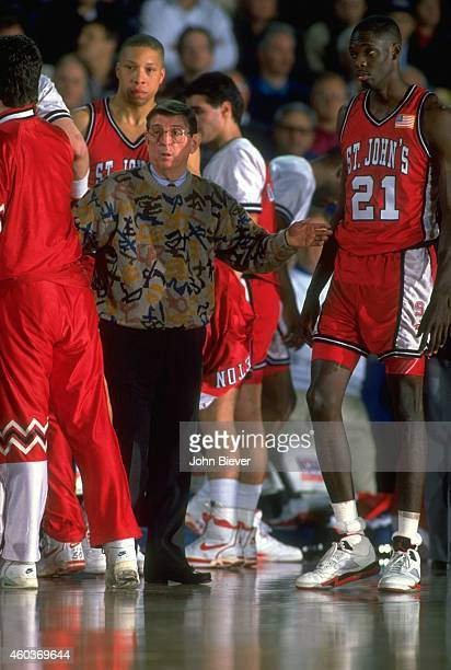 NCAA Playoffs St John's head coach Lou Carnesecca on sidelines during game vs Duke at Pontiac Silverdome Pontiac MI CREDIT John Biever