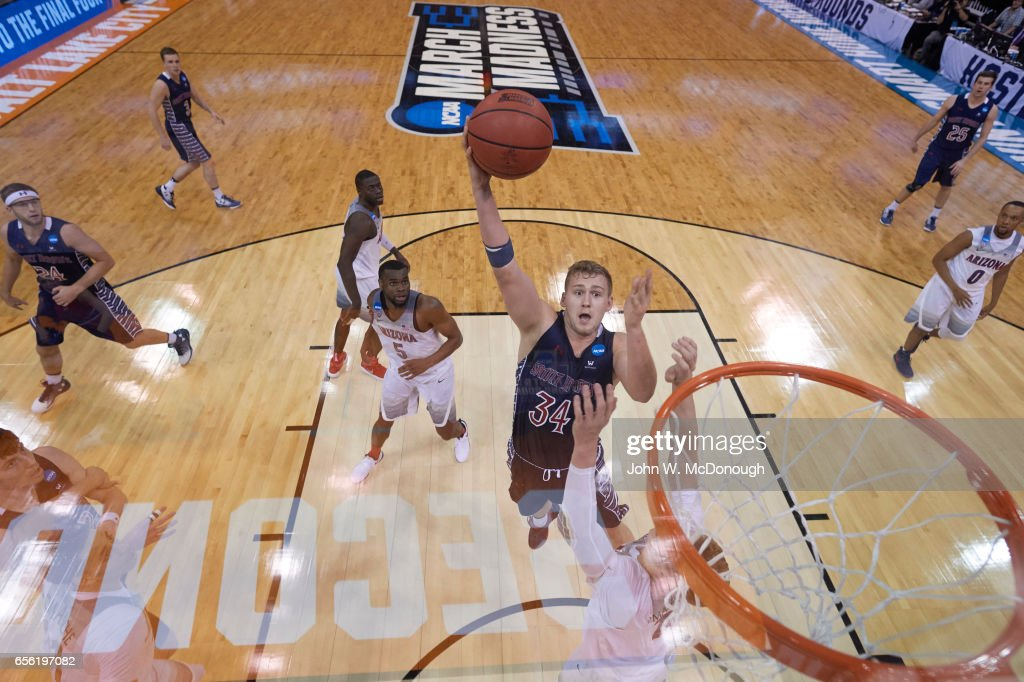 St. Mary's Jock Landale in action vs Arizona at Vivint ...