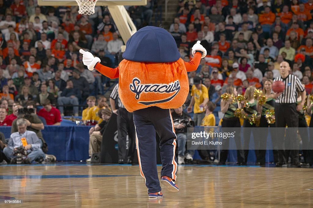 Syracuse Mascot Otto The Orange During Game Vs Vermont Buffalo Ny