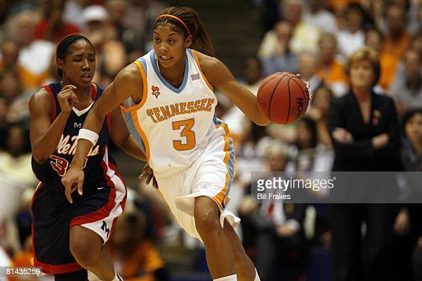 College Basketball NCAA Playoffs Tennessee Candace Parker in action vs Mississippi Alliesha Easley Dayton OH 3/27/2007