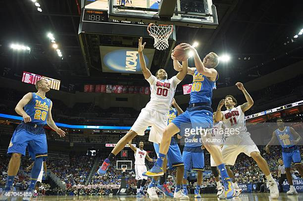 NCAA Playoffs UCLA Thomas Welsh in action rebounding vs Southern Methodist at KFC Yum Center Louisville KY CREDIT David E Klutho
