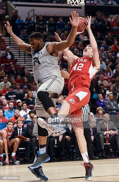 NCAA Playoffs Utah Jakob Poeltl in action vs Georgetown at Rose Garden Portland OR CREDIT Robert Beck