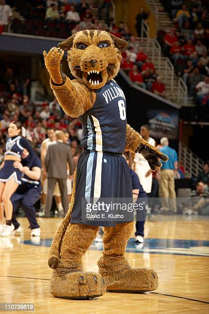 NCAA Playoffs Villanova Wildcats mascot Will D Cat on court during game vs George Mason at Quicken Loans ArenaCleveland OH 3/18/2011CREDIT David E...