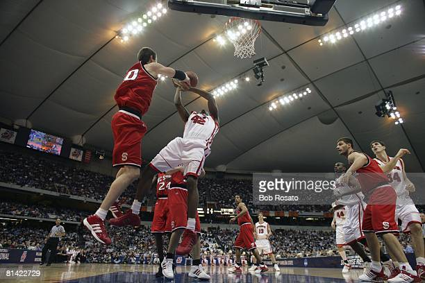 College Basketball NCAA playoffs Wisconsin Alando Tucker in action vs North Carolina State Andrew Brackman Syracuse NY 3/25/2005