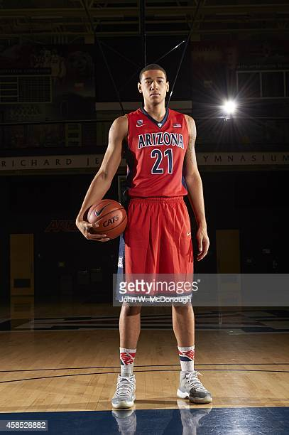 NCAA Season Preview Portrait of Arizona power forward Brandon Ashley during photo shoot at Richard Jefferson Gymnasium Tucson AZ CREDIT John W...