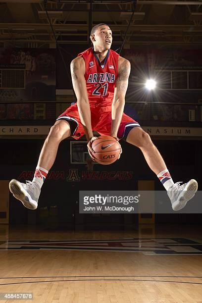 NCAA Season Preview Portrait of University of Arizona power forward Brandon Ashley during photo shoot at Richard Jefferson Gymnasium Cover Tucson AZ...