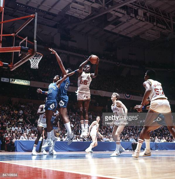 NCAA Tournament Maryland Albert King in action rebound vs Georgetown Philadelphia PA 3/14/1980 CREDIT Heinz Kluetmeier