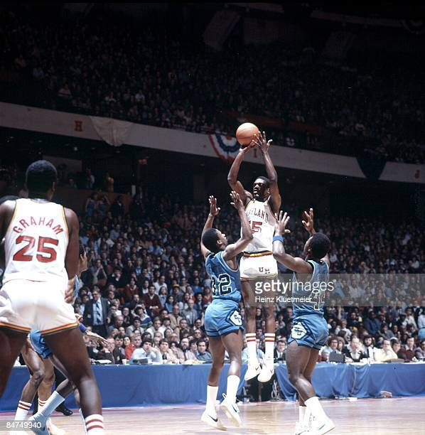 NCAA Tournament Maryland Albert King in action shot vs Georgetown Philadelphia PA 3/14/1980 CREDIT Heinz Kluetmeier