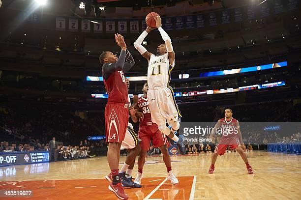 NIT Season TipOff Drexel Tavon Allen in action shot vs Alabama Nick Jacobs at Madison Square Garden New York NY CREDIT Porter Binks