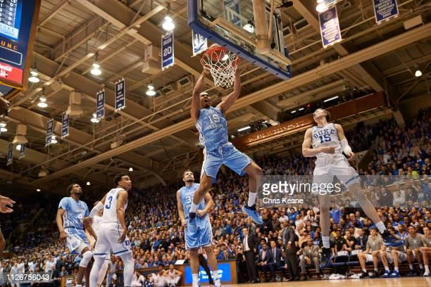 North Carolina Garrison Brooks in action dunking vs Duke at Cameron Indoor Durham NC CREDIT Chris Keane
