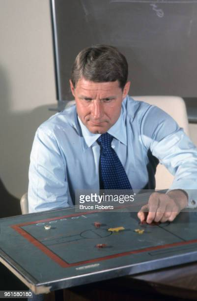 North Carolina State Norm Sloan designing plays in his office Raleigh NC CREDIT Bruce Roberts