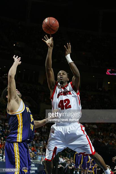 College Basketball Northern Iowa Atila Santos against Wisconsin Alando Tucker during the First Round of the NCAA tournament in Oklahoma City Okla on...