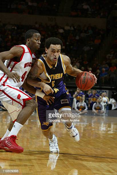 College Basketball Northern Iowa Erik Crawford against Wisconsin Alando Tucker during the First Round of the NCAA tournament in Oklahoma City Okla on...