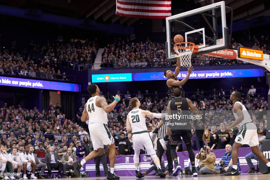 Northwestern Anthony Gaines (11) in action vs Michigan State at Allstate Arena. Greg Nelson TK1 )