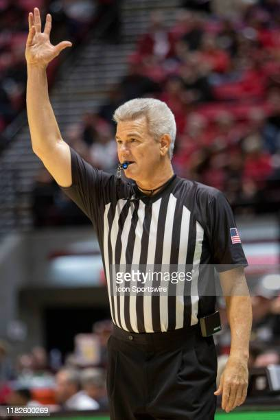 College Basketball Official signals during the game between the Grand Canyon Antelopes and the San Diego State University Aztecs on November 13 2019...