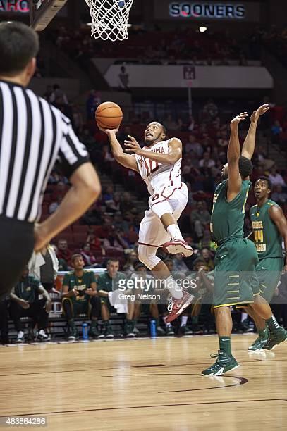 Oklahoma Jordan Woodard in action vs George Mason at Lloyd Noble Center. Norman, OK CREDIT: Greg Nelson