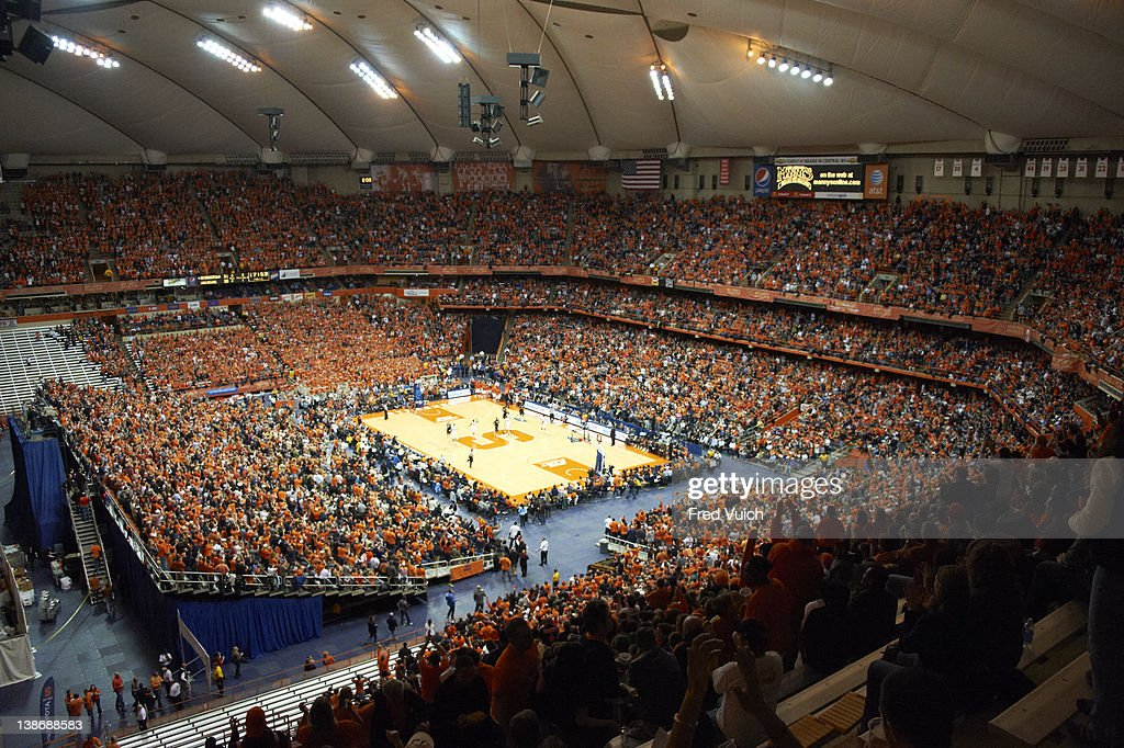 Overall View Of Carrier Dome During Syracuse Vs Georgetown