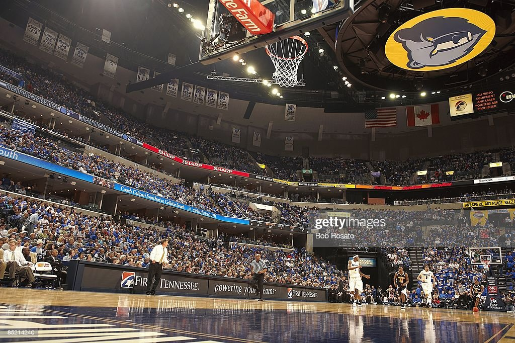 Overall view of FedEx Forum co...