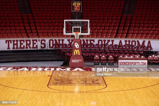 Partial view of Lloyd Noble Center before Oklahoma vs TCU game Norman OK CREDIT Greg Nelson