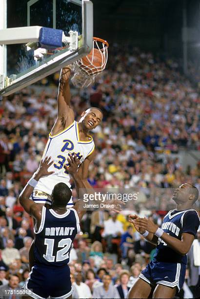Pittsburgh Jerome Lane in action dunking vs Georgetown at Fitzgerald Field House Pittsburgh PA CREDIT James Drake