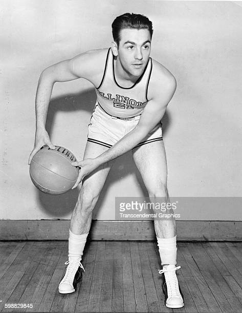 College basketball player Lou Boudreau of the University of Illinois Champaign Illinois 1937