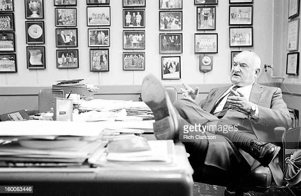 Portrait of Kentucky coach Adolph Rupp in his office at Memorial Coliseum Lexington KY CREDIT Rich Clarkson
