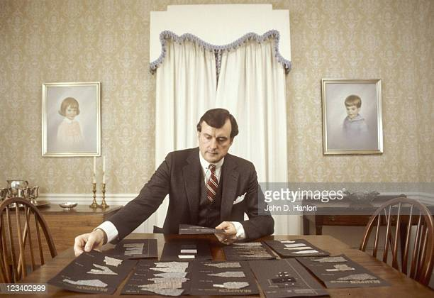 Portrait of Pinehurst Clothing men's clothing designer Pete Brennan during photo shoot at home Brennan is a former North Carolina player and member...