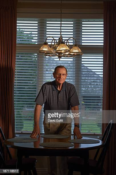Portrait of retired NCAA investigator Rich Johanningmeier posing during photo shoot at his home Johanningmeier worked on the infractions involving...
